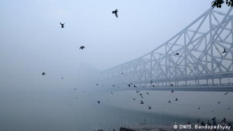 Indien Winter Kalkutta Howrah Brücke
