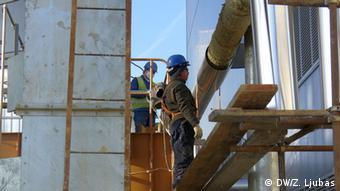 Bosnien Stanari Kohlekraftwerk Arbeiter
