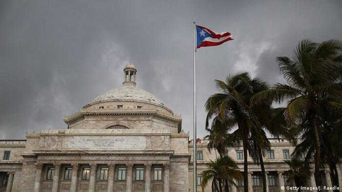 Puerto Rico San Juan Capitol Fahne