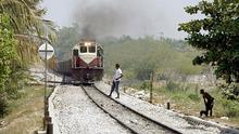 Kolumbien Aracataca Güterzug