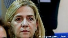 PALMA DE MALLORCA, SPAIN - JANUARY 11: Infanta Cristina appears in court for a hearing, where she faces charges of tax fraud following an investigation into the Noos Institute Sports Foundation on January 11, 2016 in Palma De Mallorca, Spain. Infanta Cristina of Spain has become the first member of the Spanish royal family to be put on trial, where she faces charges alongside her husband Inaki Urdangarin and 16 other defendants for their part in alleged corruption at the Noos Institute Sports Foundation. It is suspected that the non-profit organization, headed by Urdangarin, embezzled and laundered millions of euros worth of public funding. (Photo by Cati Cladera - Pool/Getty Images)