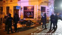 Deutschland, Hooligans randalieren in Leipzig