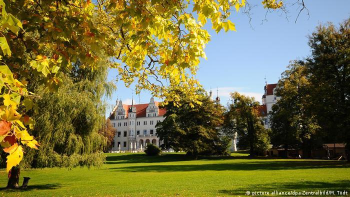 Boitzenburg Castle and gardens in the Uckermark region