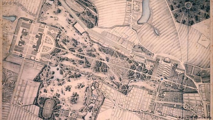 Plan for Sanssouci Park in Potsdam