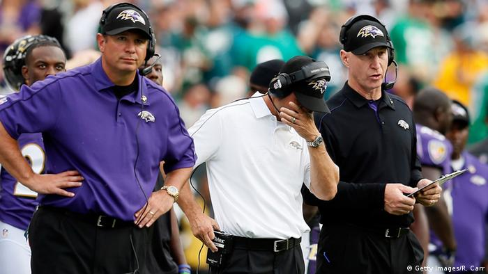 USA American Football - Trainer der Baltimore Ravens, John Harbaugh