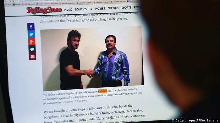 Mexiko Treffen von Sean Penn & Joaquin Guzman, El Chapo (Getty Images/AFP/A. Estrella)