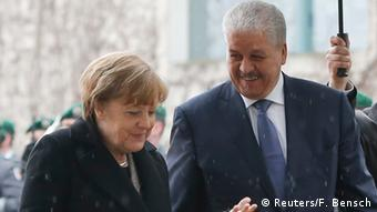 Merkel met Algerian PM Abdelmallek Sellal last year