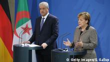 Deutschland Algerien Sellal bei Merkel PK (Getty Images/S. Gallup)