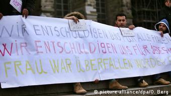 Deutschland Köln Sexuelle Übergriffe - Demonstration von Flüchtlingen