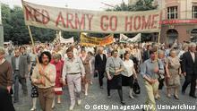 Litauen Vilnius 1991 Massenprotest