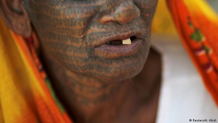 Indien Glaube Tätowierung