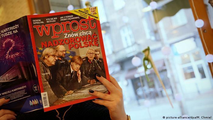 Polen Wprost Magazin Cover Merkel Schulz Nazi.Uniform