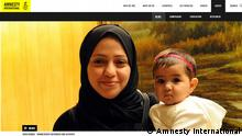 Amnesty International Screenshot Samar Badawi