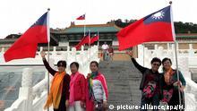 Chinesische Touristen vor dem Nationalen Museum in Taipei