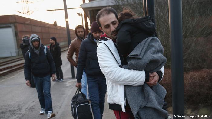 Deutschland Dänemark Grenze bei Padborg Flüchtlinge aus Syrien (Getty Images/S. Gallup)
