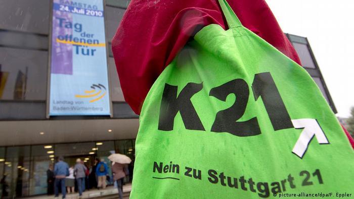 Сумка с символикой движения против проекта Штутгарт-21