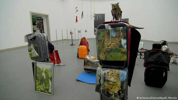 Trolley in the German Pavilion at the Biennale