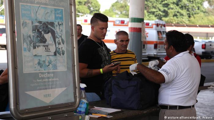 Mexiko Migranten aus Kuba auf dem Weg in die USA