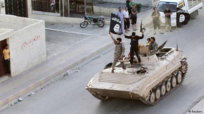 Syrien IS-Kämpfer in Raqqa (Reuters)