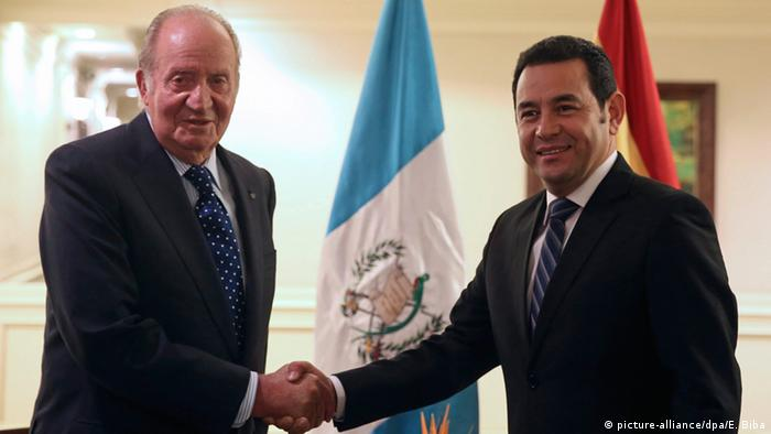 Guatemala - ehemaliger spanischer König Juan Carlos & Jimmy Morales