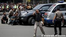 Indonesien Explosionen und Schüsse, vermutetes Selbstmordattentat