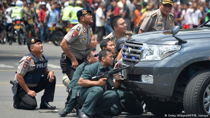 Jakarta Indonesia serangan Bom polisi anti teror