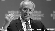 Israel Schweiz Shimon Perez in Davos
