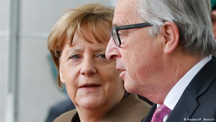 Angela Merkel cu Jean-Claude Juncker la Berlin