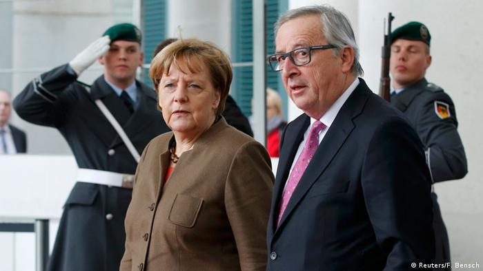 Treffen von Angela Merkel und Jean-Claude Juncker in Berlin, 14.01.2016 (Foto: Reuters)