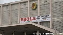WHO Ebola Entwarnung Symbolbild Banner in Conakry