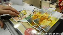 Symbolbild Münzen Franken Schweiz Euro