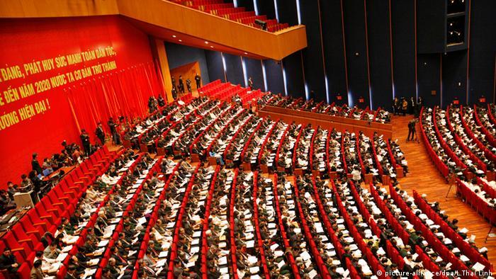 Vietnam Hanoi 11. Kongress der Kommunistischen Partei Vietnam Nguyen Phu Trong (picture-alliance/dpa/L.Thai Linh)