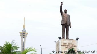 La statue de Patrice Lumumba à Kinshasa