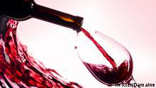 Rotwein Glas Flasche