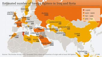 Karte Foreign Fighters in Syria and Iraq