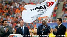 IAAF Präsident Lamine Diack Peking China Flagge Weltmeisterschaft Athletik