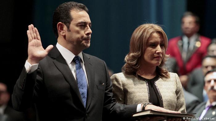 Guatemala - Jimmy Morales Vereidigung als Präsident