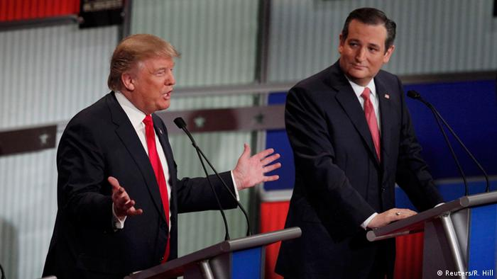 USA Wahlkampf Republikaner Diskussion der Kandidaten - Donald Trump & Ted Cruz (Foto: Reuters/R. Hill)