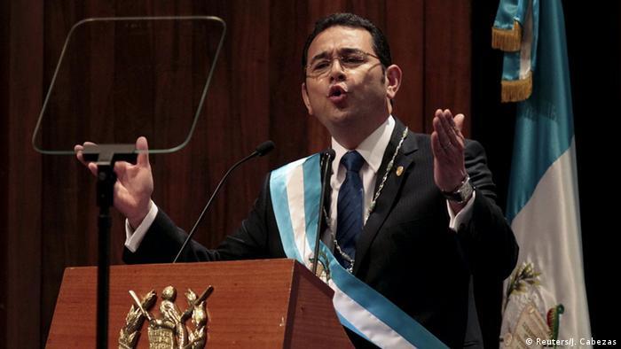 Guatemala Jimmy Morales als Präsident vereidigt