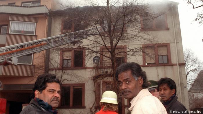 Deutschland Anschlag auf Asylbewerberheim in Lampertheim 1992