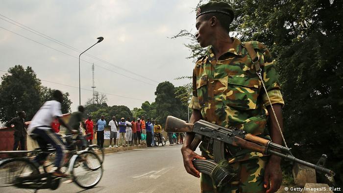 Burundi Sicherheitskräfte Soldaten