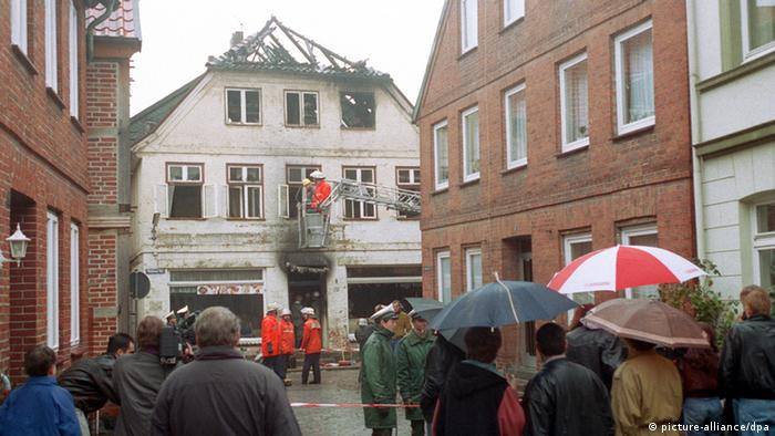 Deutschland Anschlag auf Haus in Mölln 1992