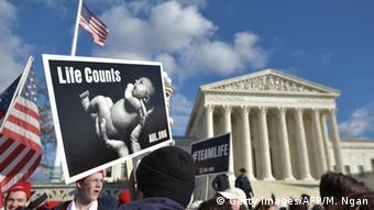 Акция сторонников запрета абортов в Вашингтоне