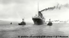 El Titanic original, captado al zarpar en su infortunado viaje de 1912