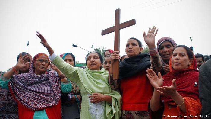 Pakistan Lahore Protest Trauer nach Anschlag Christenverfolgung