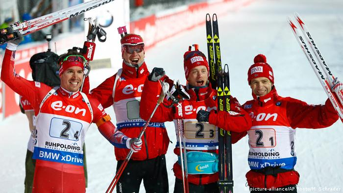 Wintersport Biathlon Weltcup in Ruhpolding Team Norwegen