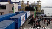Ukraine Illichivsk Hafen Handelszug nach China