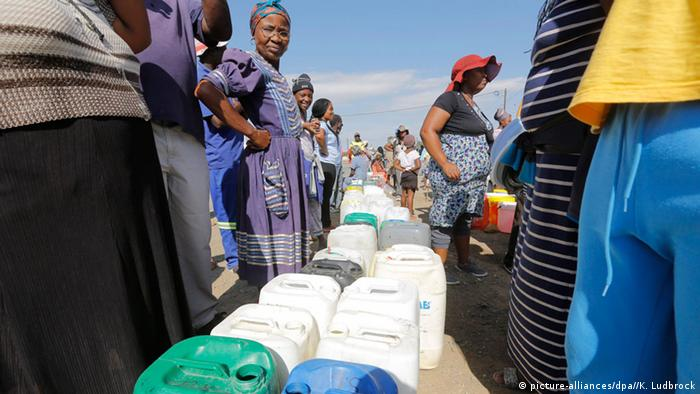 Strigent water rationing in South Africa