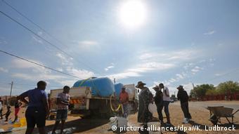 Südafrika Dürre Wasserverteilung