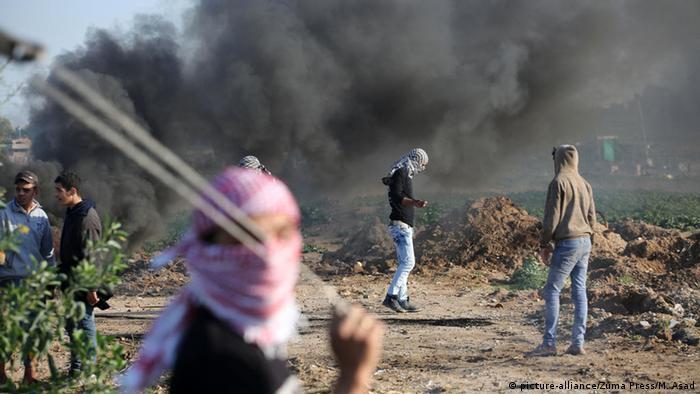 Palästina Gazastreifen Palästinenser Ausschreitungen Steinewerfer
